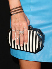 Nicky Hilton attended the Rebecca Minkoff fashion show wearing loads of diamond rings.