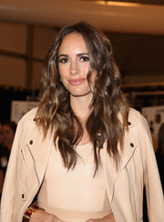 Louise Roe looked punky-chic at the Rebecca Minkoff fashion show with her tousled waves.