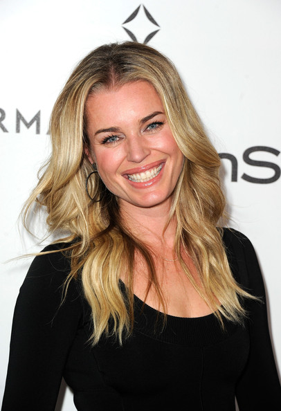 Rebecca Romijn Long Center Part [hair,blond,face,hairstyle,eyebrow,long hair,beauty,layered hair,shoulder,brown hair,rebecca romijn,forevermark,a promise of beauty and brilliance,golden globe awards,beverly hills hotel,california,instyle,event]
