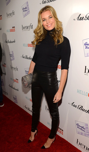 Rebecca Romijn Leather Pants
