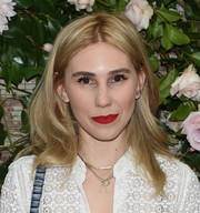 Zosia Mamet sported a center part and bouncy waves at the Rebecca Taylor x Shopbop Denim launch.