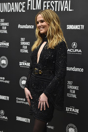 Zoey Deutch brought some elegant sparkle to Sundance with this beaded LBD by Elie Saab during the premiere of 'Rebel in the Rye.'