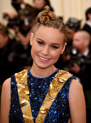 Brie Larson brought a zany vibe to the Met Gala red carpet with this knotty updo.