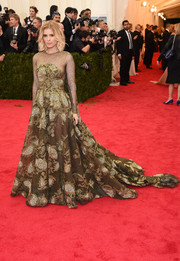 Kate Mara was a vision in a voluminous, sheer-panel Valentino Couture gown during the Met Gala.