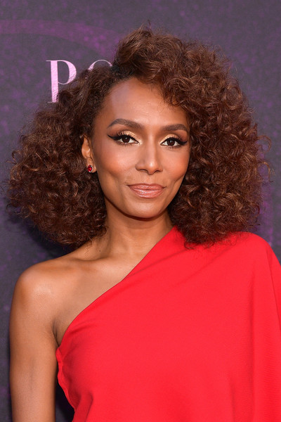 Janet Mock looked gorgeous with her high-volume curls at the 'Pose' red carpet event.