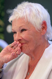 Judi Dench attended the Zurich Film Festival press conference for 'Red Joan' wearing her usual pixie.