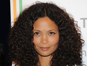 Thandie Newton wore her hair in gorgeous glossy natural curls for the launch of the Reducing Domestic Violence campaign in London.