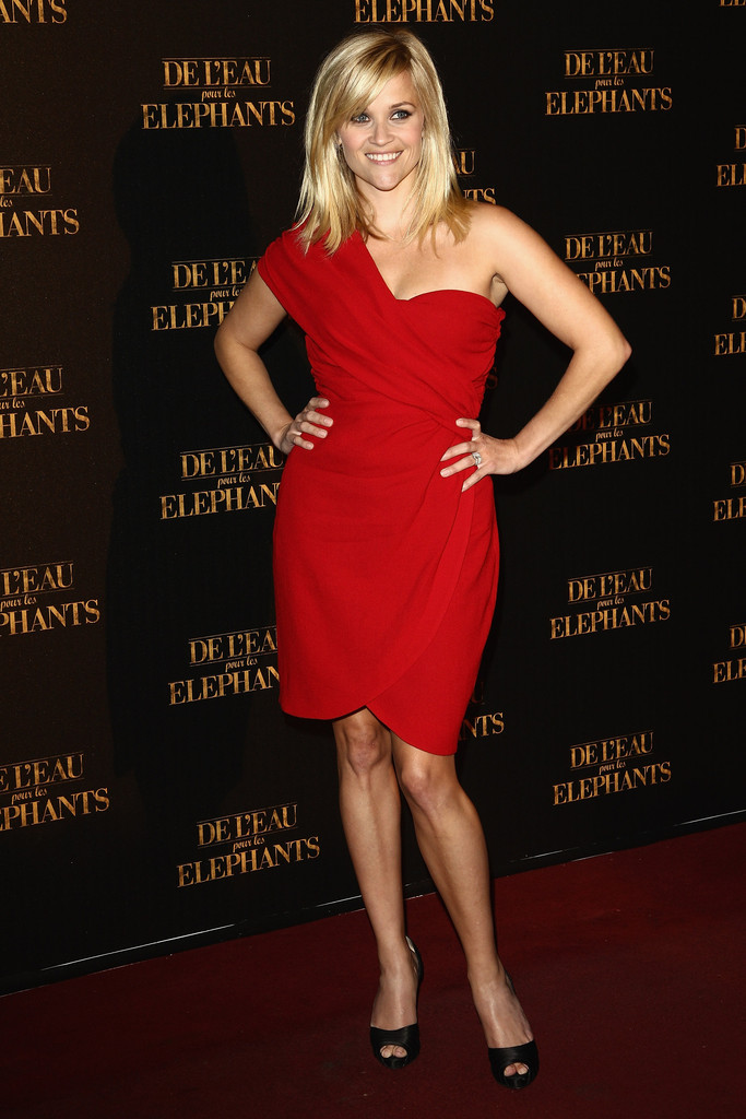 Reese Witherspoon One Shoulder Dress  Reese Witherspoon - Carrie Underwood Hairstyles
