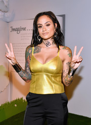 Kehlani shone in a sexy gold camisole at the 29Rooms San Francisco: Turn It Into Art party.
