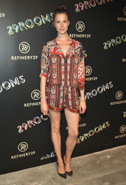 Elettra Wiedemann stayed casual and cool in a printed romper for the 29Rooms event.