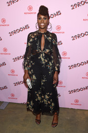 Issa Rae chose a floaty floral cutout jumpsuit by Zimmermann for the 29Rooms: Turn It Into Art event.
