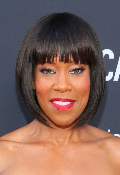 Regina King Bob [american crime,hair,face,hairstyle,lip,bangs,chin,eyebrow,head,bob cut,forehead,red carpet,actress,regina king,california,los angeles,ace hotel,abc,premiere,premiere]