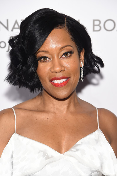 Regina King Short Wavy Cut [hair,hairstyle,face,eyebrow,lip,skin,black hair,chin,beauty,shoulder,arrivals,regina king,new york city,cipriani 42nd street,national board of review annual awards gala,national board of review annual awards gala]