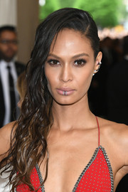 Joan Smalls rocked a just-got-out-of-the-shower 'do at the 2017 Met Gala.