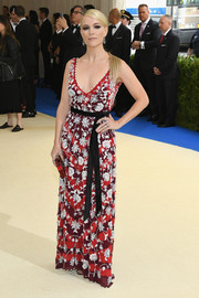 Megyn Kelly looked vibrant and sophisticated in a floral-beaded gown by Altuzarra at the 2017 Met Gala.