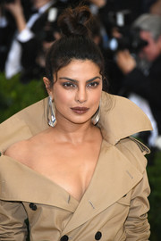 Priyanka Chopra went edgy with this top knot at the 2017 Met Gala.