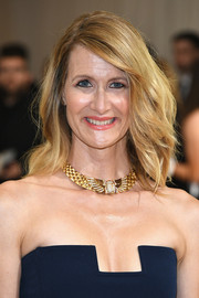 Laura Dern wore her hair in windswept waves at the 2017 Met Gala.