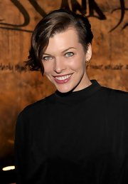 Mila Jovovich rocked a cool asymmetric haircut a the launch of Restoration Hardware's spring 2012 collection.