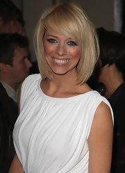 Liz Mcclarnon topped off her fashionable look at the Reveal party with a layered bob.