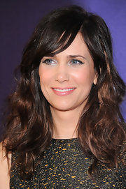 Kristen Wiig wore shiny pearly pink lipstick to the premiere of 'Revenge for Jolly!' at the Tribeca Film Festival.