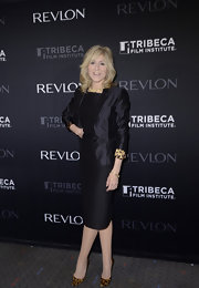 The touch of leopard print on the cuffs of Judith Light's cocktail dress really livened up this look.