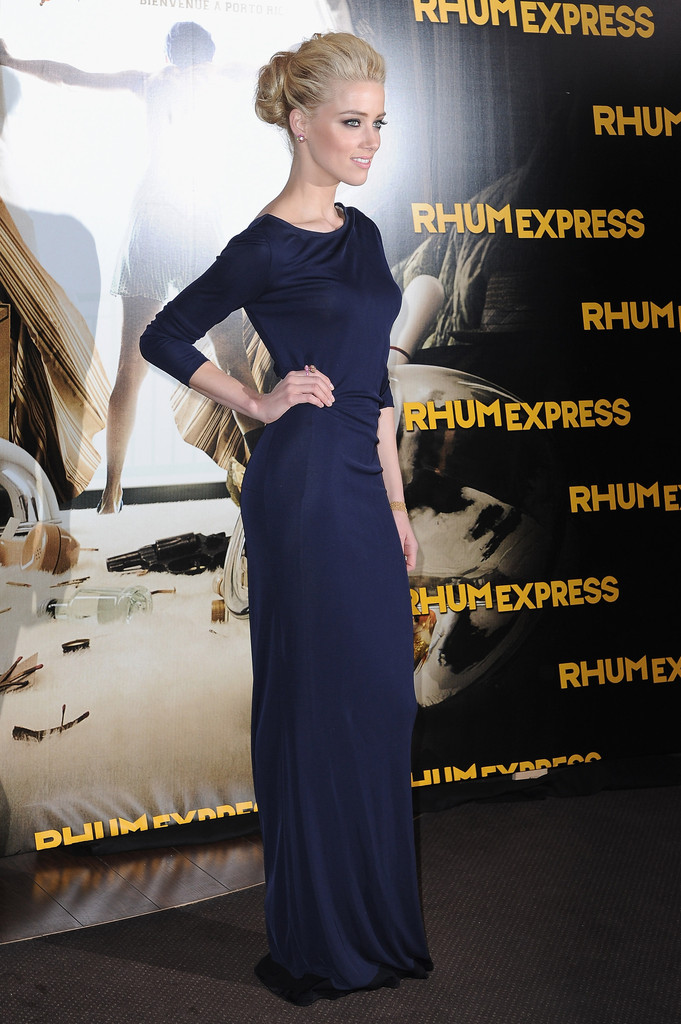 Amber Heard attends the 'Rhum Express' Paris Premiere at Cinema Gaumont Marignan on November 8, 2011 in Paris, France.
