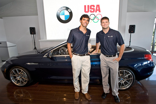 U.S. Olympic Gold Medalist Swimmer Ricky Berens And U.S. Open Wrestling Champion Jake Herbert Participate In Question & Answer Session During The 2011 BMW Championship