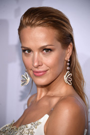 Petra Nemcova was fresh-faced with her brushed-back hairstyle at the Diamond Ball.