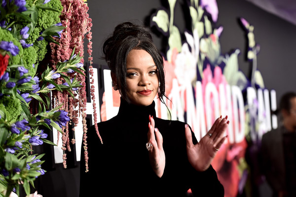 More Pics of Rihanna Messy Updo (1 of 33) - Updos Lookbook - StyleBistro [rihanna,beauty,purple,lady,pink,fashion,lighting,flower,floral design,floristry,plant,diamond ball,cipriani wall street,new york city]