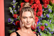 Karlie Kloss wore her hair in a loose top knot at the 2019 Diamond Ball.
