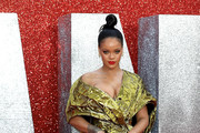 Rihanna Metallic Clutch
