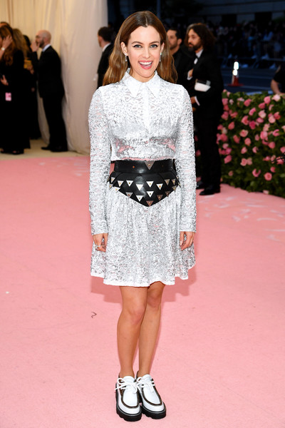 Riley Keough Shirtdress [fashion model,clothing,fashion,white,red carpet,fashion show,carpet,premiere,hairstyle,dress,fashion - arrivals,riley keough,notes,fashion,new york city,metropolitan museum of art,met gala celebrating camp]