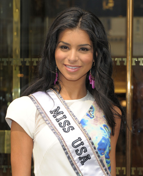 Miss USA 2010 Rima Fakih visits Trump Tower on May 20 2010 in New York ...