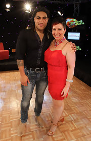 Ma'a Nonu squeezed into a tight black button-down and skinny jeans for his dance performance at the Rise Up Christchurch Telethon Appeal.