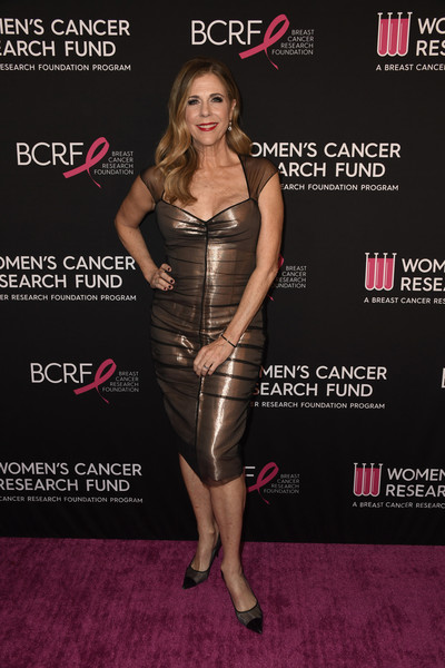 Rita Wilson Form-Fitting Dress [clothing,dress,carpet,fashion,premiere,cocktail dress,red carpet,flooring,brown hair,event,arrivals,rita wilson,beverly hills,california,beverly wilshire four seasons hotel,womens cancer research fund,the womens cancer research fund,an unforgettable evening benefit gala]