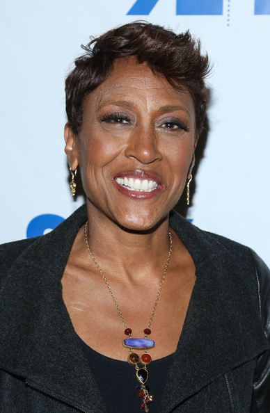Robin Roberts Fauxhawk [92nd street y presents: and evening with robin roberts,hair,hairstyle,chin,black hair,smile,george stephanopoulis,robin roberts,new york city,92nd street y]