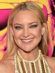 Kate Hudson opted for a casual center-parted style when she attended the New York premiere of 'Rock the Kasbah.'