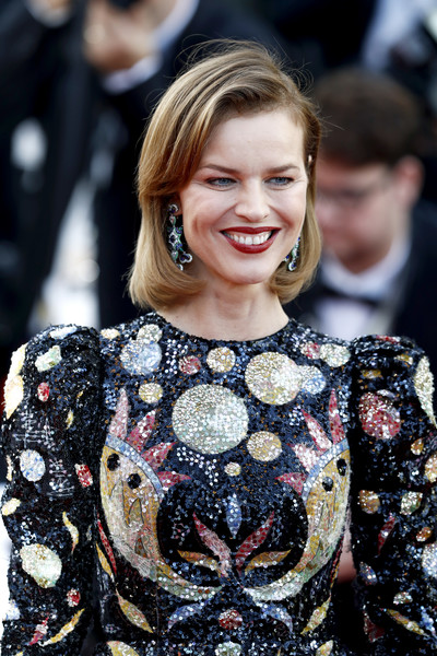 More Pics of Eva Herzigova Bob (4 of 17) - Eva Herzigova Lookbook - StyleBistro [rocket man,hair,hairstyle,fashion,premiere,dress,smile,event,flooring,street fashion,carpet,eva herzigova,rocketman red carpet,screening,cannes,france,the 72nd annual cannes film festival]