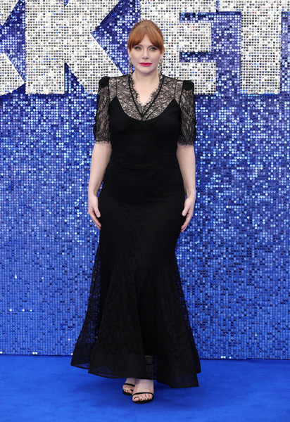Bryce Dallas Howard was classic in a black lace gown by Brock Collection at the UK premiere of 'Rocketman.'