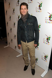 Matthew Morrison kept warm and casual in a classic denim jacket.