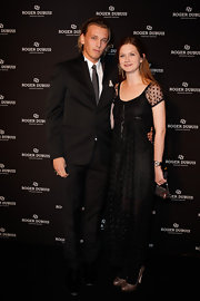 Bonnie Wright looked demure in an ankle-length polka-dot dress for the Soiree Monegasque.