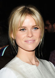 Light pink lips added a soft touch to Alice Eve's look during London Fashion week.