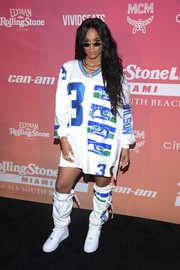 Ciara attended Rolling Stone Live Miami wearing her husband Russell Wilson's jersey.