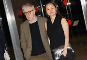 Soon-Yi Previn added some shimmer to her ensemble at the 'To Rome with Love' premiere with a metallic silver clutch.