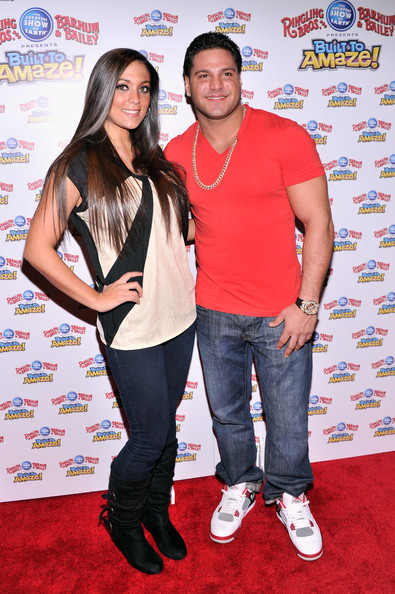 Ronnie Magro V-Neck Tee [premiere,event,carpet,flooring,red carpet,sammi ``sweetheart giancola,ronnie magro,amaze,l-r,new york city,ringling bros,barnum bailey]