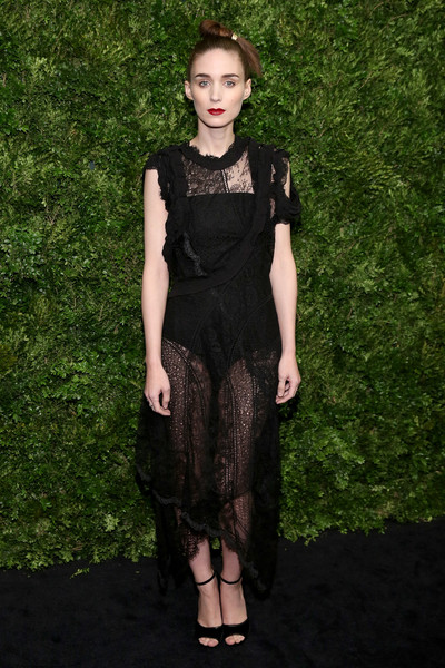 Rooney Mara Sheer Dress