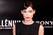 Rooney Mara's Riotous Red Lipstick at the Paris Premiere or 'MILLENIUM: The ...