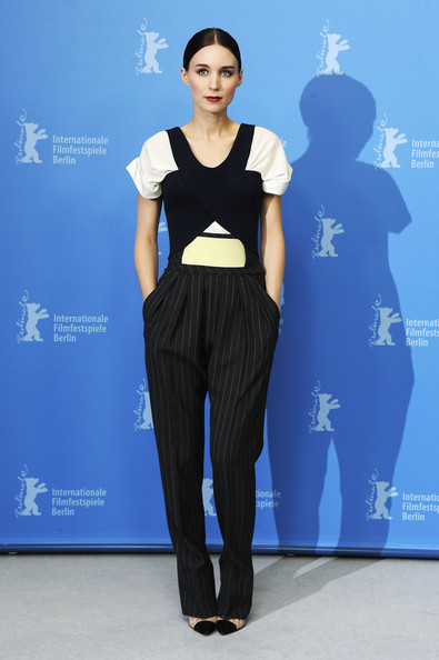 Rooney Mara Fitted Blouse