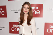 Rose Leslie Leather Pants