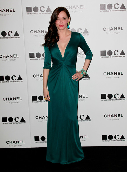 Rose McGowan Was Lovely in an Emerald Issa Gown - Celebrity Clothes ...